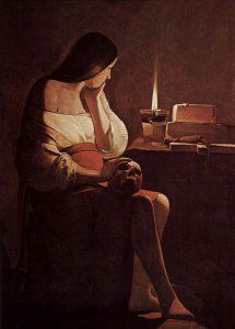 La Madeleine à la flamme filante